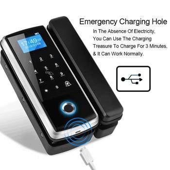 Eseye Fingerprint Glass Door Lock Digital Lock Smart Biometric Door Lock Eletronic Lock Touch Keypad For Office Home