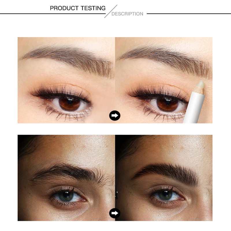 Pudaier 1PC Vitamine E Eyebrow Fixing Pencil Waterproof Makeup Long Lasting Eye Brow Pencil Enclosed with A Sharpener 2