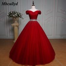 50d369152f788 Mbcullyd Yeni Balo Quinceanera elbise Boncuklu Kristaller Tatlı 16 Yıl  Doğum Günü Parti Abiye Kırmızı Vestido