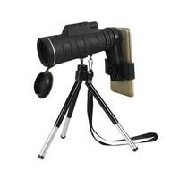 9500 M 40X60 Monoküler Teleskop Geniş Açı HD Gece Görüş Prizma Pusula Telefon Klip Tripod Ile Kapsam Açık taşınabilir Teleskop