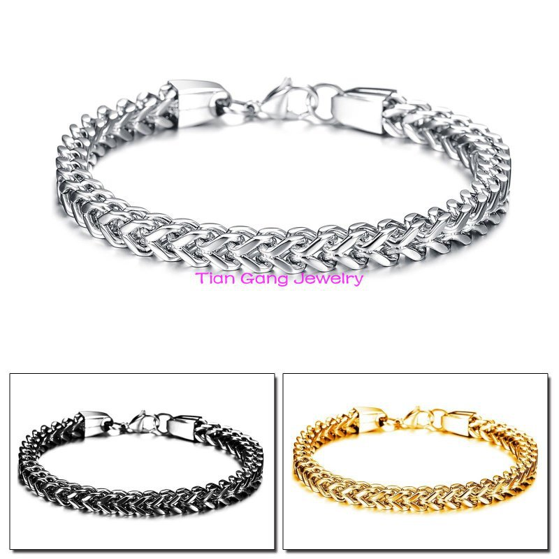 New Fashion Women Men font b Jewelry b font Silver font b Gold b font Black