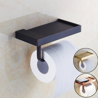 Free Shipping Golden & Rose Golden & Black Bathroom Toilet Paper Holder Toilet Tissue Rack
