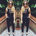 Sexy Women Sleeveless Bodycon Bandage Bodysuit Club Party  Slim Short Rompers