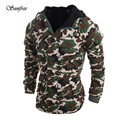 Sunfree 2016 New Hot Sale Fashion Men Autumn Winter Camouflage Wind Men Hooded Coat Brand New High Quality Dec 1