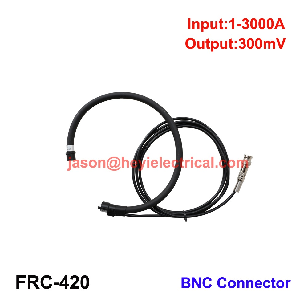 China input 3000A FRC-420 flexible rogowski coil with BNC connector output 300mV clamp on current transformer
