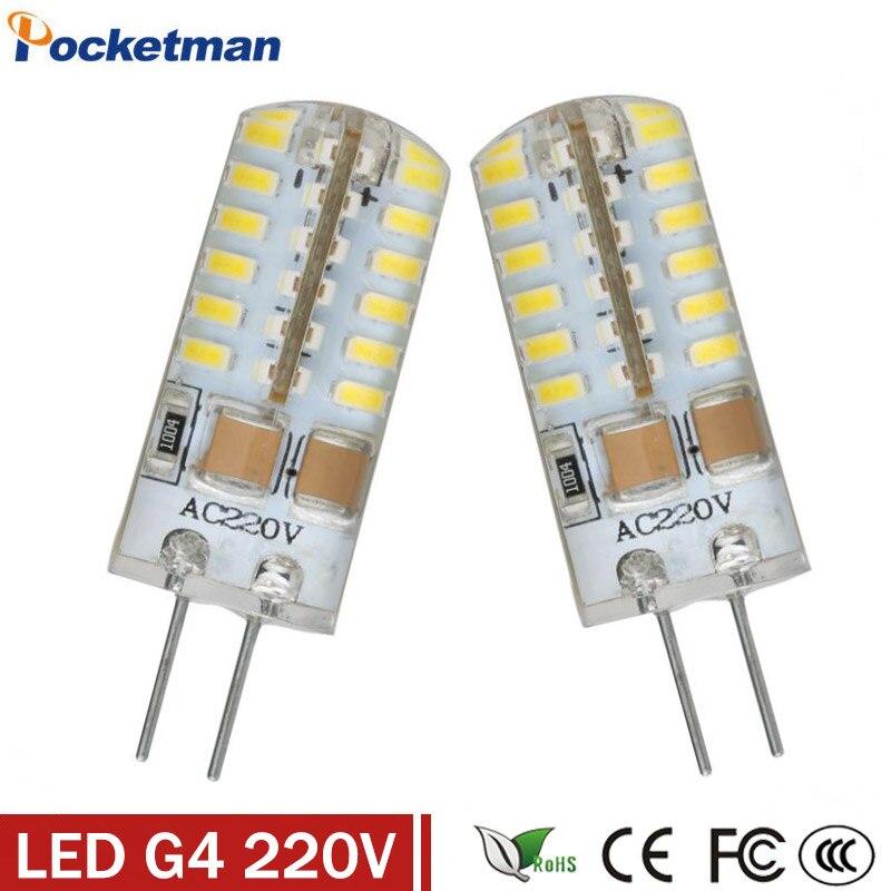 Высокая мощность SMD3014 3 Вт/4 Вт/6 Вт/7 Вт 220 В 230 В 240 В <font><b>G4</b></font> светодиодный светильник 360 Угол луча светодиодные лампы гарантии