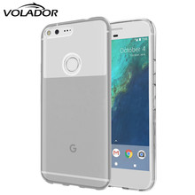 Anti-konck Clear Flexible Soft TPU Full Protective Case Cover For Google Pixel XL Case Coque Pixel Cases/ Screen Protector+Pen