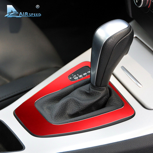 Image 3 - Airspeed Car Control Gear Shift Panel Cover Gearshift Panel Frame Trim Mouldings for BMW E90 E92 3 Series 2005 2012 Car Styling