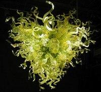 100% выдувного боросиликатного Стекло зеленый люстра Дизайн с сердечком свадебного стола центральным Топ люстры