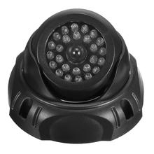 Dummy Fake CCTV Dome Camera Home Surveillance Security Flashing Red LED Light