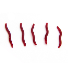 100 Pcs/lot Soft Fishing Lure Artificial Bait Red Worms Smell Simulation Earthworm Bait Fishing Tackle Fishing Accessories