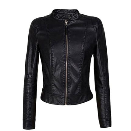 2017 New Autumn Pu   Leather   Jacket Women Female Slim Zipper Clothing Women's Short Slim Winter Bomber Jacket Female Coat QL