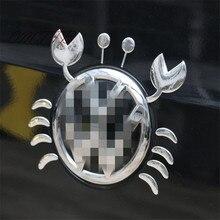 3D Chrome Funny crab car stickers super cool car styling Sticker on Car Automobile Decals emblem badge logo decor
