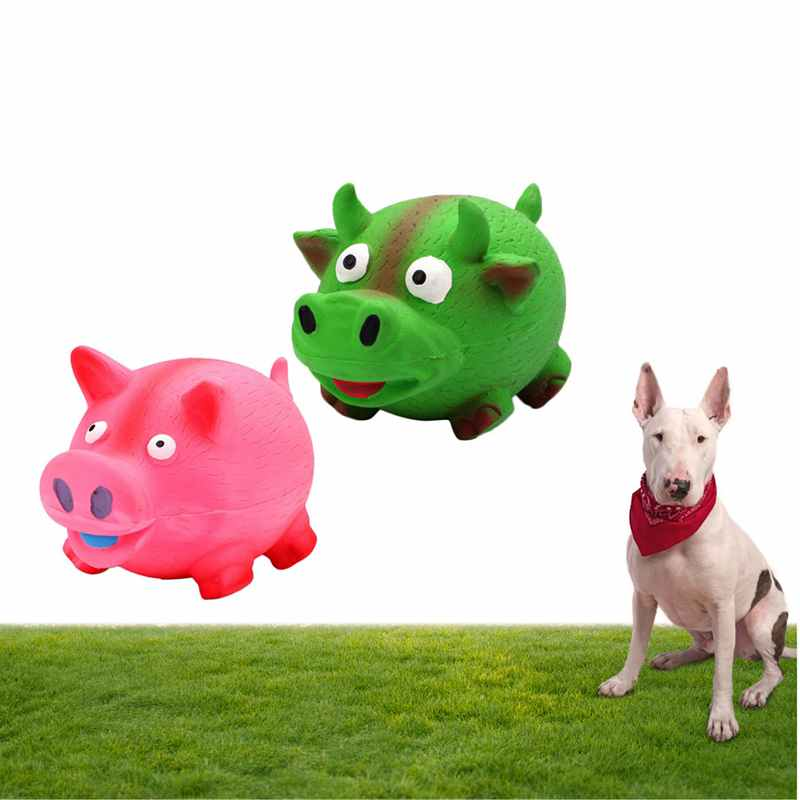Dog Toy Pet Chew Rubber Bell Squeaky Sound Toys for Dog Funny Games Interactive Bone Doggy Toy Dog Production