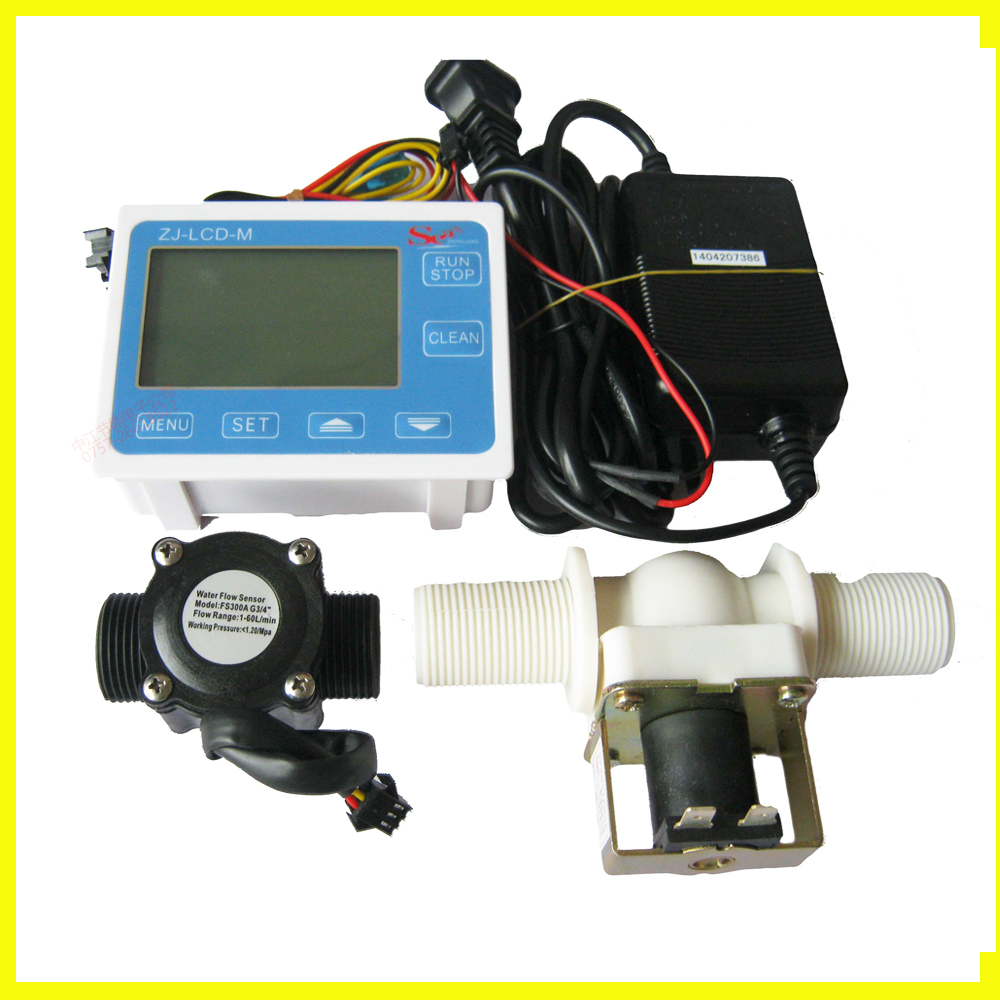 G 3/4'' Digital Flow meter Irrigation systems for the quantitative control device Filling Packing Machine DN20 turbine Flowmeter feasibility of fuzzy logic control for steam turbine systems
