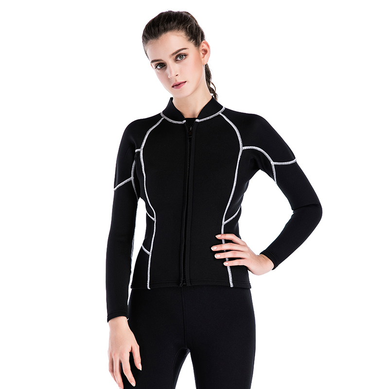 SBART 2MM Neoprene Surf Wetsuit for Swimming Spearfishing Wetsuit Women Warm Diving Equipment Shirt Triathlon Wet suit Jacket I