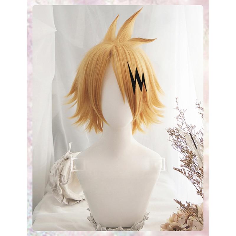 Boku no Hero Academia Kaminari Denki Wig Cosplay Costume My Hero Academia Men & Women Short Synthetic Hair Party Role Play Wigs