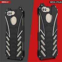 Cassa Della Lega unico Per Huawei Nova 2 Plus Metal Armor Caso cavalletto Copertura Per Huawei Nova 2 R-SOLO Batman Paraurti di Protezione Custodia Protettiva