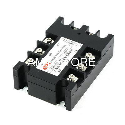 JGX-33100A 3.5-32VDC/480VAC 100A DC to AC 3 Phase SSR Solid State Relay w Indicator Light new and original sa340100d sa3 40100d gold three phase solid state relay 480vac 100a