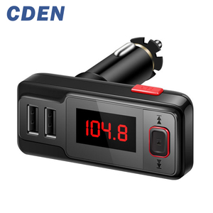 Bluetooth Handsfree Car FM Transmitter MP3 Music Player Dual USB Charger AUX 3.5mm Audio Input Support TF Card U Disk Music Play