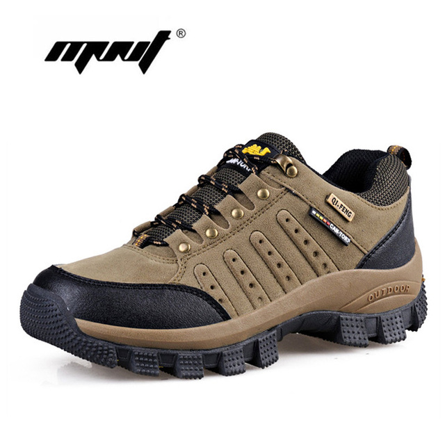 High Quality Men Boots Outdoor Autumn Shoes Men Fashion Lace-Up Leather Hiking Boots Plus Size Casual Shoes