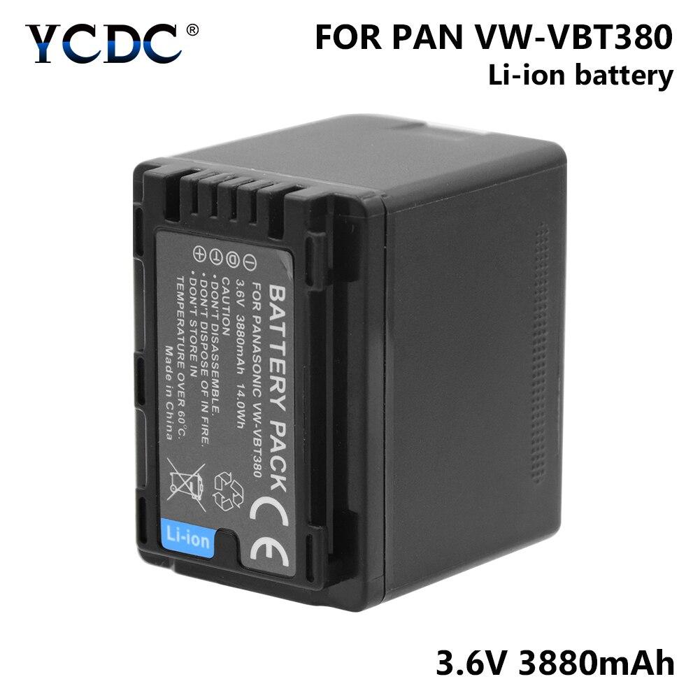1/2 Pcs VW-VBT380  VW VBT380 3.6V 3880mAh Lithium Battery For Panasonic HC-VXF999 HC-VXF990 HC-VX870 HC-VX980 HC-VX989 Camera1/2 Pcs VW-VBT380  VW VBT380 3.6V 3880mAh Lithium Battery For Panasonic HC-VXF999 HC-VXF990 HC-VX870 HC-VX980 HC-VX989 Camera