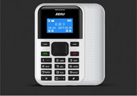 2017 AEKU C8 Mini Carte Téléphone Avec Sauvegarde D'urgence Portefeuille Ultra-Mince Étudiant Version Carte de Crédit