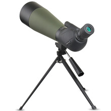Powerful 20-60x80 Spotting Scope 80mm Objective Optical Monocular Outdoor Camping Bird-watching Telescopes with Portable Tripod