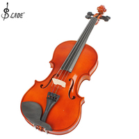 SLADE 4/4 violin Full Size Natural Acoustic Violin Fiddle with Case & Bow & Rosin for Violin Beginner