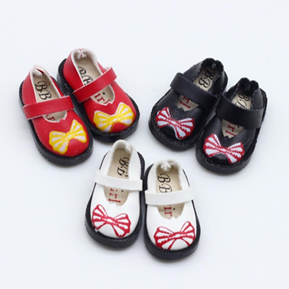 3,3cm PU läder docka skor Mini Toy skor för Blythe BJD 1/6 1/8 Bjd skor Ball Joints Dock Accessoarer Skor gratis frakt