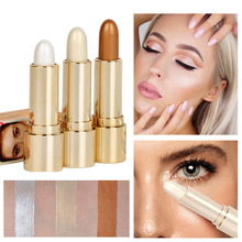 Brand Soft Shimmer Shine Highlighter Foundation Stick Bronzer Contour Makeup Pen 3D Face Cream Highlight Pencil Face Make Up