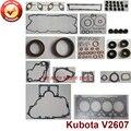 Полный ремонт  капитальный ремонт  полный комплект прокладок двигателя Kubota: V2607