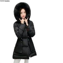 Camper женщины зимнее пальто 2017 новой Корейской версии самосовершенствование с длинными рукавами хлопок пальто большой размер женщин пальто