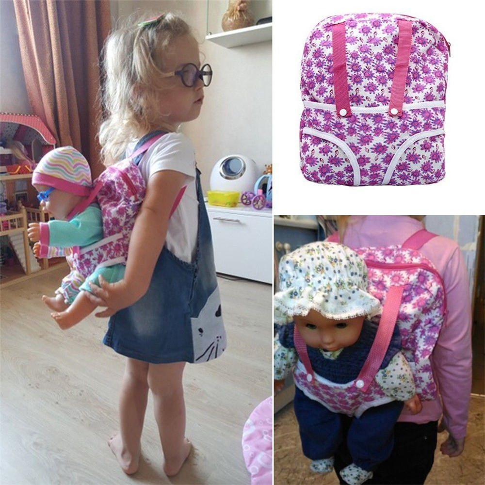 2018 Doll Clothes Wear fit 43cm Baby Born zapf,18 American girl doll clothes Lovely Doll Backpack Carrier Adorable Accessory summer set for 18 american girl doll bikini cap summer swimming suit with hat also fit for 43cm baby born zapf doll clothes