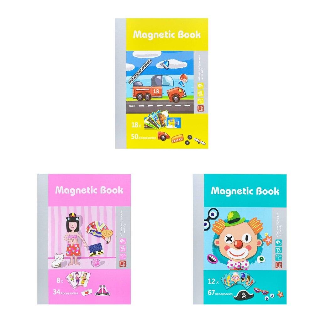 79 шт. Магнитная книга головоломки персонаж изменение серии игрушка набор