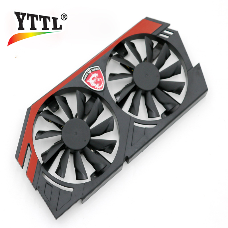 Original for MSI GTX780 / 770/760 / 750Ti R9-290X / 280X / 270X / 270 graphics card cooler fan without heatsink everflow 75mm 2pin 2lines 0 2a t128010sm computer radiator graphics card cooler fan for gigabyte radeon r9 270x 280x vga cooling