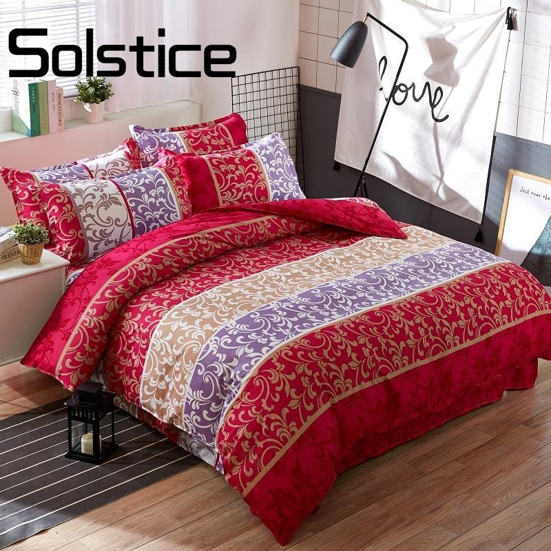 Solstice Home Textile Suite fashion simple household wind new fashion printing aloe cotton four quilt cover bedspread