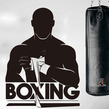 Boxing Club Gym Wall Stickers Removable Vinyl Customizable Banner Fitness Boxing Sports Wall Stickers 3A13