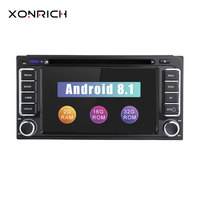 Autoradio 2 din Android 8.1 GPS Car DVD Player For Toyota Land Cruiser 100 200 Prado 120 150 Rush Corolla Hiace Yaris HiluxAudio