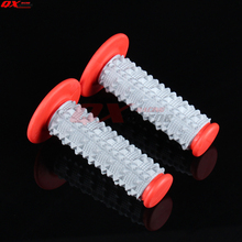 цена на Red TPE rubber soft 3D Hand Grips Pit Dirt Bike Motocross Motorbike MX Girps Fit BSE Kayo YZF 7/8