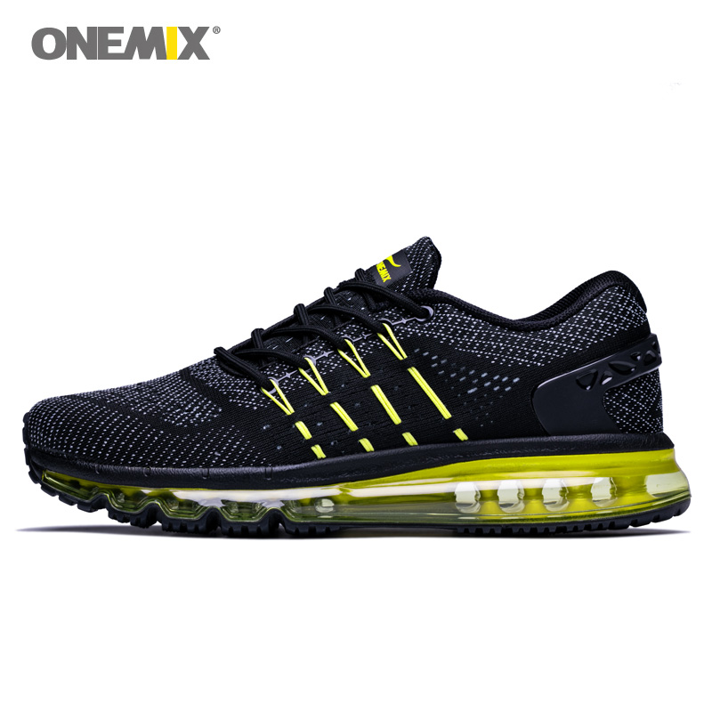 ONEMIX 2018 Max Men Walking Shoes For Women Cushion Fitness Trail Athletic Trainers Tennis Sports Black Outdoor Running Sneakers onemix 2018 new max men walking shoes women trail athletic trainers black sports boot cushion outdoor tennis running sneakers 42