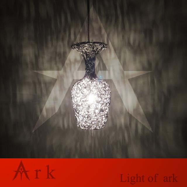 Projeto do copo de LUZ ARCA New Modern Fio de alumínio Pingente levou lâmpada forma de taça da lâmpada para sala de jantar Luminária livre grátis
