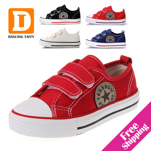 Classic Star Children Shoes 4 Colors New 2019 Casual Boys Girls Shoes Canvas Kids Sneakers Fashion Simple Rubber Sports Sneakers