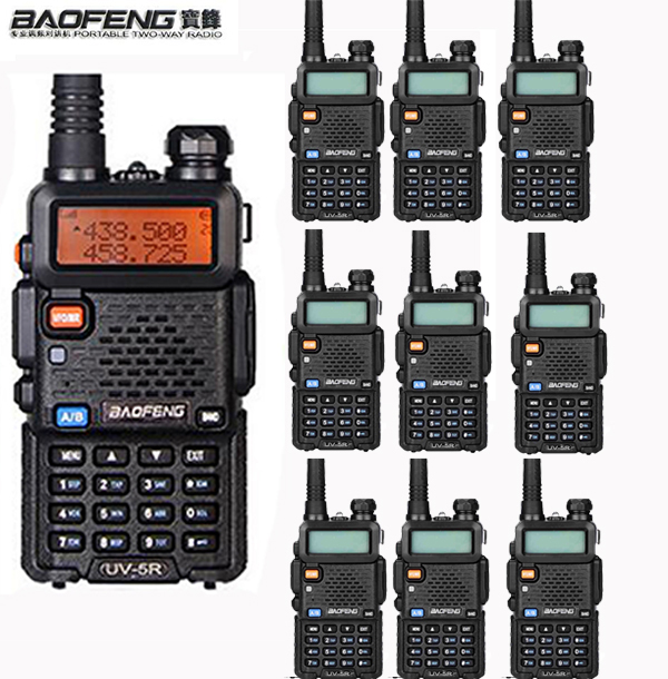 10pcs FM VOX cb ham Radio hf VHF UHF Dual Band Uv5r For Mobile Two Way
