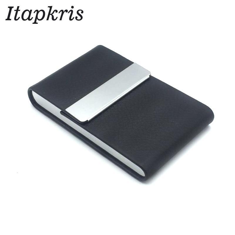 Fashion ID Cardholder Wallet Leather Business Women Men Credit Card Holder Travel Name Card Holder Organizer Holder цена 2017