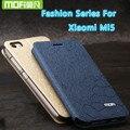 Для Xiaomi mi5 m5 телефон случаях флип xiaomi mi 5 m 5 case кожа внутренняя металлическая передняя крышка оригинальный MOFI стенд case