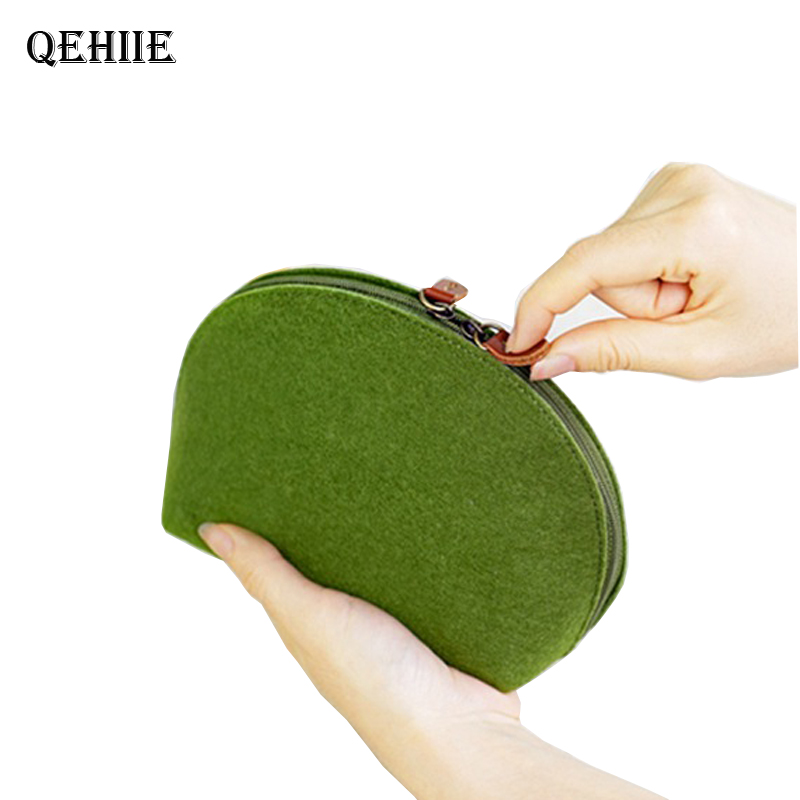 Blanket Purse-Organizer Makeup-Bag Medicine Travel Small Toiletry-Case Woolen Mini Fashion