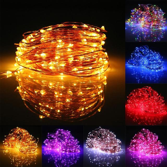 Solar Powered String Lights 100LED 150LED 200LED Copper Wire Outdoor Fairy Light for Christmas Garden Home Holiday Decorations