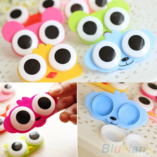 Lovely Cute Animal Design Travel Soak Storage Cleaning Contact Lens Box Casehot ...