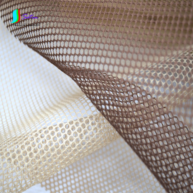 Cream colored Coffee Mesh Fabric Inner Lining Cloth DIY